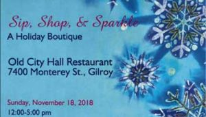 Sip, Shop and Sparkle @ Old City Hall Restaurant