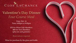 Valentine's Day Dinner @ Clos LaChance