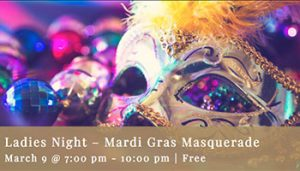 Ladies Night – Mardi Gras Masquerade @ Fortino Winery
