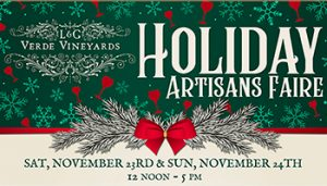 Holiday Artisans Fair @ Verde Vineyards