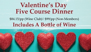 Valentine's Day Five Course Dinner @ Clos LaChance